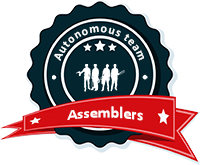 Autonomous team of assemblers, independent of availability of electric power facilities.